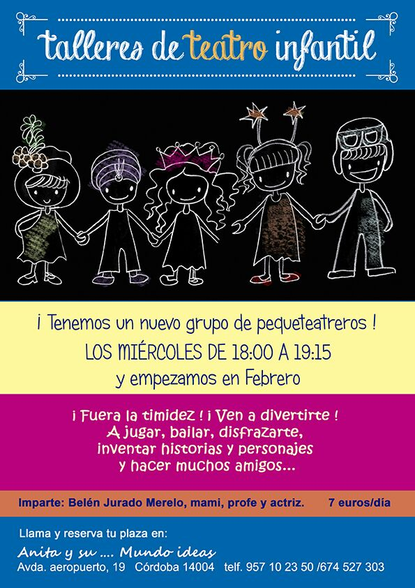 Talleres de teatro infantil en Córdoba